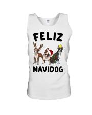 Feliz Navidog Boston Terrier Christmas Unisex Tank thumbnail