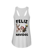 Feliz Navidog Boston Terrier Christmas Ladies Flowy Tank thumbnail