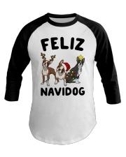 Feliz Navidog Boston Terrier Christmas Baseball Tee thumbnail