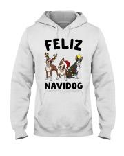 Feliz Navidog Boston Terrier Christmas Hooded Sweatshirt thumbnail