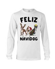 Feliz Navidog Boston Terrier Christmas Long Sleeve Tee thumbnail