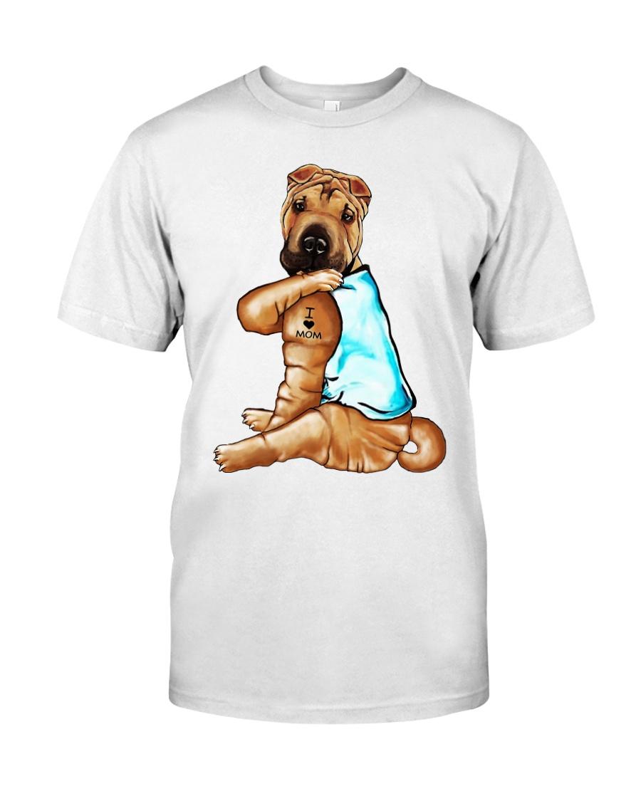 Shar Pei Tattoo I love mom shirt Classic T-Shirt