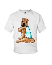 Shar Pei Tattoo I love mom shirt Youth T-Shirt thumbnail
