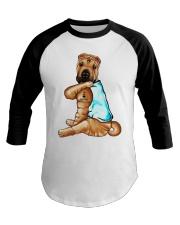 Shar Pei Tattoo I love mom shirt Baseball Tee thumbnail