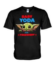 Baby Yoda for President shirt V-Neck T-Shirt thumbnail