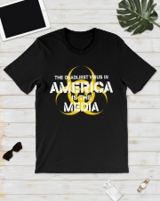 The Deadliest Virus In America Is The Media shirt Classic T-Shirt lifestyle-mens-crewneck-front-17