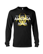 The Deadliest Virus In America Is The Media shirt Long Sleeve Tee thumbnail