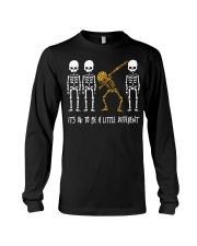 Skeleton dabbing sunflower It's Ok to be a little Long Sleeve Tee thumbnail