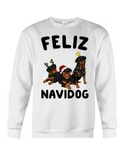 Feliz Navidog Rottweiler Christmas Crewneck Sweatshirt front