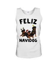 Feliz Navidog Rottweiler Christmas Unisex Tank thumbnail