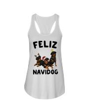 Feliz Navidog Rottweiler Christmas Ladies Flowy Tank thumbnail