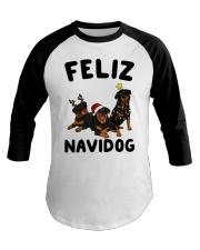 Feliz Navidog Rottweiler Christmas Baseball Tee thumbnail
