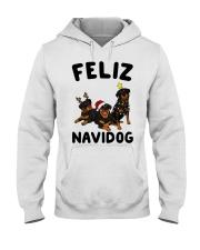 Feliz Navidog Rottweiler Christmas Hooded Sweatshirt thumbnail