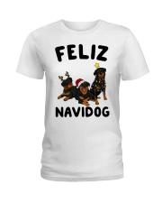 Feliz Navidog Rottweiler Christmas Ladies T-Shirt thumbnail