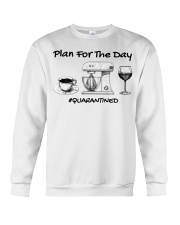 Plan for the day coffee baking Wine  Crewneck Sweatshirt thumbnail