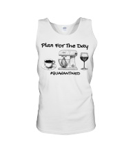 Plan for the day coffee baking Wine  Unisex Tank thumbnail