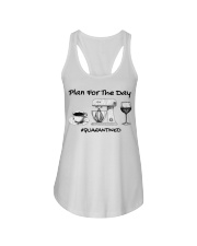 Plan for the day coffee baking Wine  Ladies Flowy Tank thumbnail
