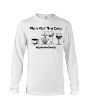 Plan for the day coffee baking Wine  Long Sleeve Tee thumbnail