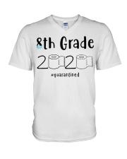 8th Grade 2020 quarantined T-shirt V-Neck T-Shirt thumbnail