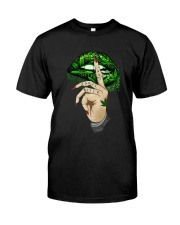 Lips Weed not today bitch shirt Classic T-Shirt front