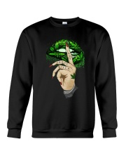 Lips Weed not today bitch shirt Crewneck Sweatshirt thumbnail