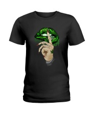 Lips Weed not today bitch shirt Ladies T-Shirt thumbnail