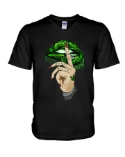 Lips Weed not today bitch shirt V-Neck T-Shirt thumbnail