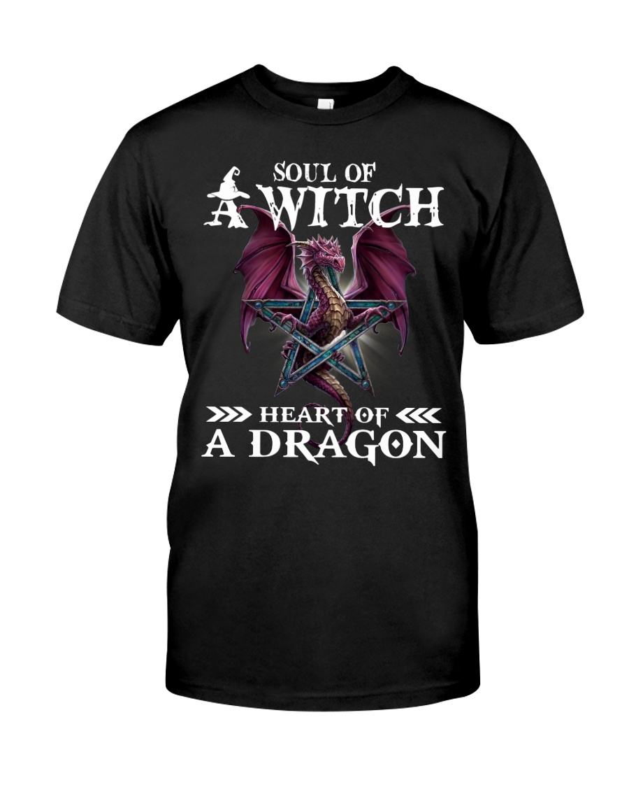 Soul of a witch heart of a dragon shirt Classic T-Shirt