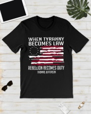 When Tyranny becomes law rebellion becomes duty  Classic T-Shirt lifestyle-mens-crewneck-front-17