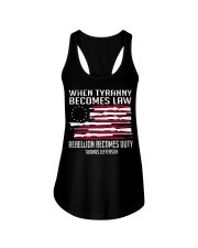 When Tyranny becomes law rebellion becomes duty  Ladies Flowy Tank thumbnail
