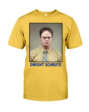 Dwight Schrute Determined Worker Instense  Classic T-Shirt front