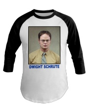 Dwight Schrute Determined Worker Instense  Baseball Tee thumbnail