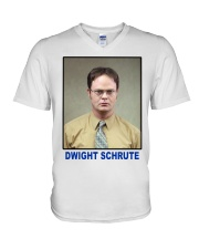 Dwight Schrute Determined Worker Instense  V-Neck T-Shirt thumbnail