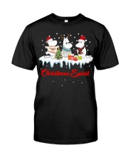 Unicorn Christmas Spirit shirt Classic T-Shirt front