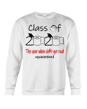 Class of 2020 the year when shit got real  Crewneck Sweatshirt thumbnail