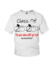 Class of 2020 the year when shit got real  Youth T-Shirt thumbnail