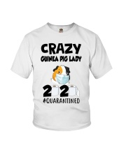 Crazy guinea pig lazy 2020 quarantined T-shirt Youth T-Shirt thumbnail
