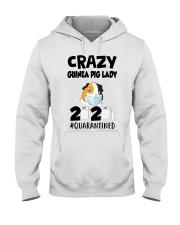 Crazy guinea pig lazy 2020 quarantined T-shirt Hooded Sweatshirt thumbnail