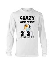 Crazy guinea pig lazy 2020 quarantined T-shirt Long Sleeve Tee thumbnail