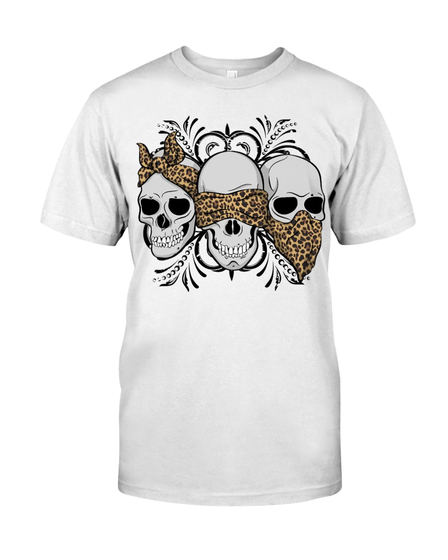 3 skull No Speak No Hear No see shirt Classic T-Shirt