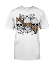 3 skull No Speak No Hear No see shirt Classic T-Shirt front