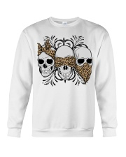 3 skull No Speak No Hear No see shirt Crewneck Sweatshirt thumbnail