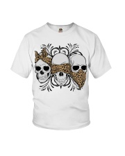 3 skull No Speak No Hear No see shirt Youth T-Shirt thumbnail