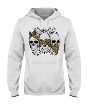 3 skull No Speak No Hear No see shirt Hooded Sweatshirt thumbnail