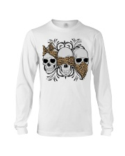 3 skull No Speak No Hear No see shirt Long Sleeve Tee thumbnail