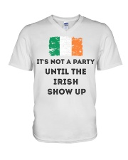 St Patrick's Day Irish It's not a party the Irish V-Neck T-Shirt tile