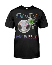 Elephant Stay out of my bubble t-shirt Classic T-Shirt front