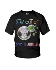 Elephant Stay out of my bubble t-shirt Youth T-Shirt thumbnail