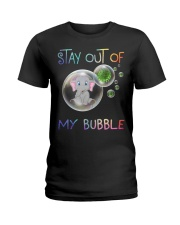 Elephant Stay out of my bubble t-shirt Ladies T-Shirt thumbnail