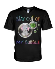 Elephant Stay out of my bubble t-shirt V-Neck T-Shirt thumbnail